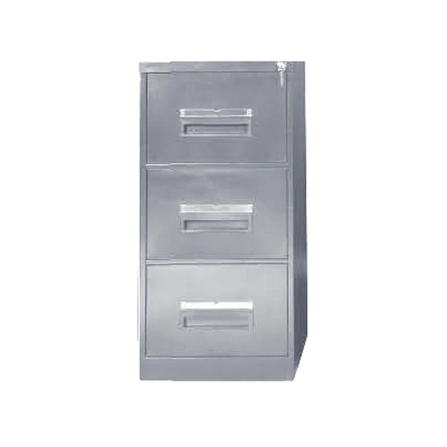 Picture of Steel Office Filing Cabinet - 3 Drawer File - Knock Down (Requires Assembly) - 132 x 47 x 63 cm - 3FC01KD-grey