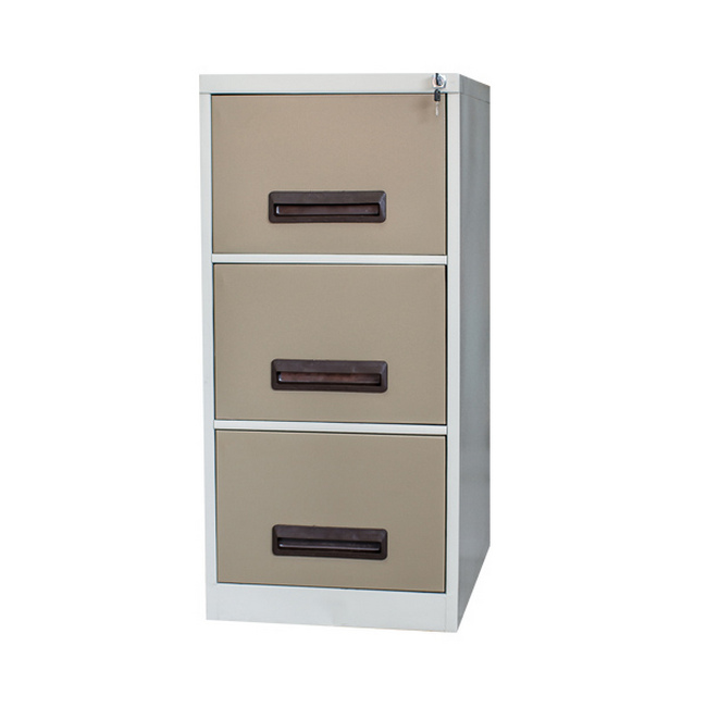 Picture of Steel Office Filing Cabinet - 3 Drawer File - Knock Down (Requires Assembly) - 132 x 47 x 63 cm - 3FC01KD-ivorykaroo