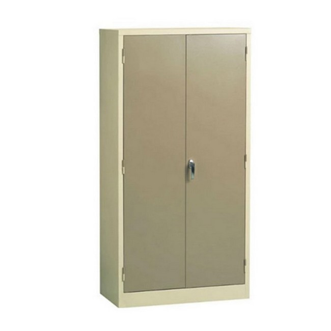 Picture of Steel Cupboard - Metal Stationery - 4 Shelves - Ivory and Karoo - Knock Down (Requires Assembly) - 180 x 90 x 45 cm - SC002KD-ivorykaroo