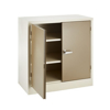 Picture of Steel Cupboard - Metal Stationery - 2 Shelves - Ivory and Karoo - Knock Down (Requires Assembly) - 90 x 90 x 45 cm - SC004KD-ivorykaroo