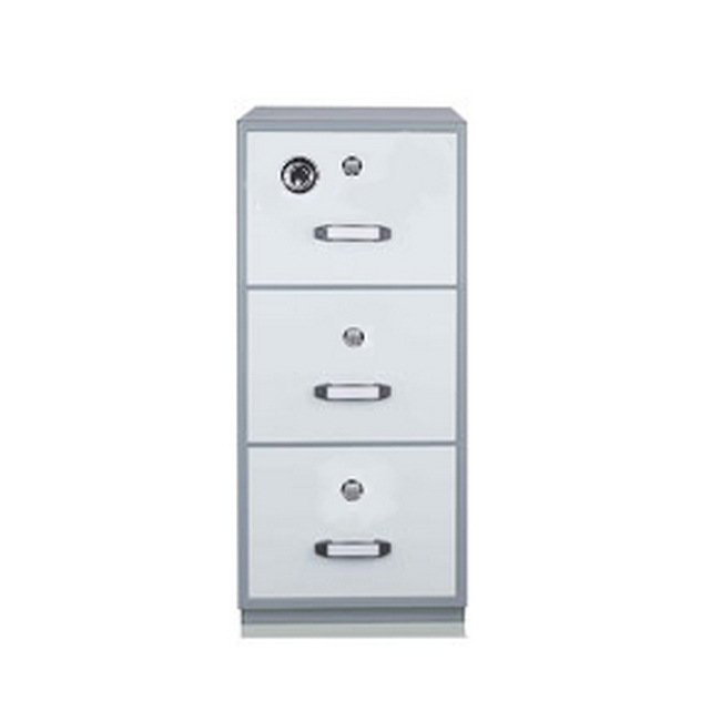 Picture of Steel Fire Resistant Filing Cupboard - 3 Drawer File -  122 x 55.2 x 80 cm - Motorcraft Grey - FR002