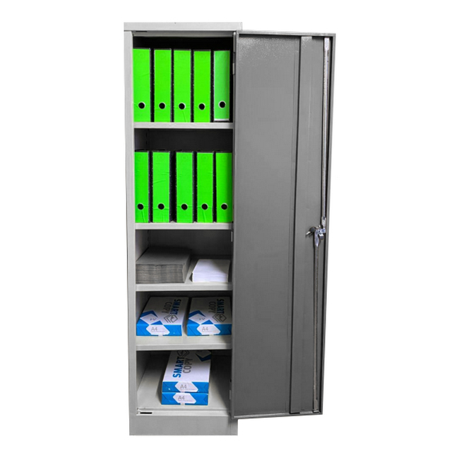 Picture of Stationery Cupboard - Space Saver - 4 Shelves - 180 x 48 x 45 cm - SC005-grey