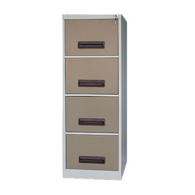 Picture of Steel Office Filing Cabinet - 4 Drawer File - Knock Down (Requires Assembly) - 132 x 47 x 63 cm - 4FC02KD-ivorykaroo
