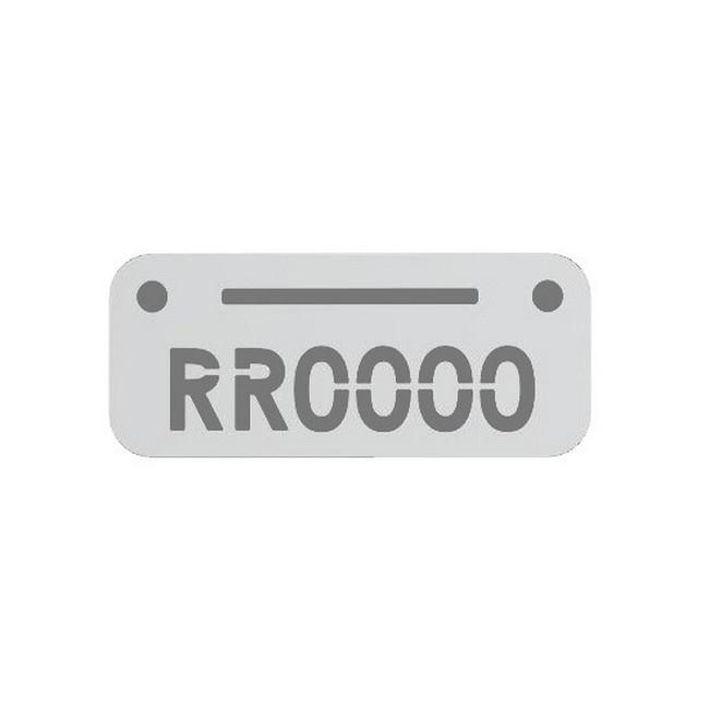 Picture of Plastic Locker Numbering Plate -Aluminium - BO1293