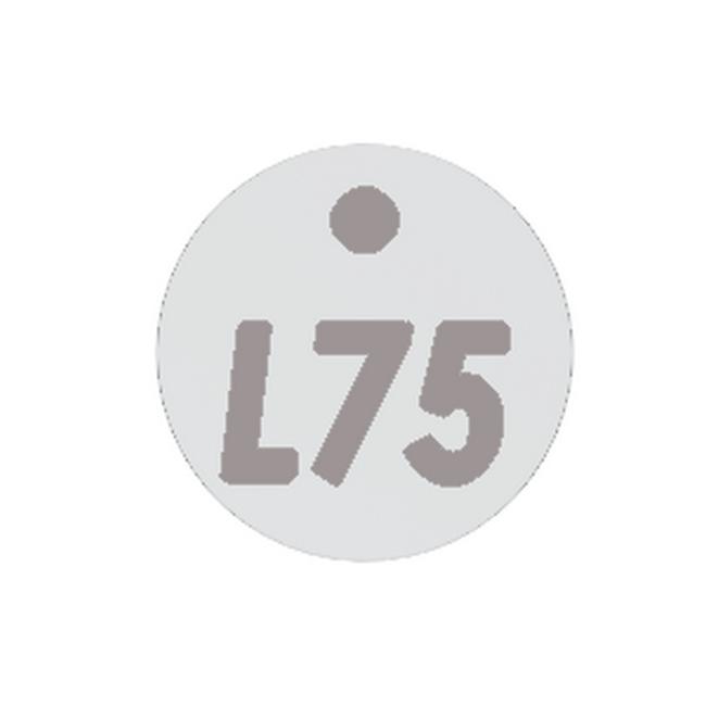 Picture of Plastic Locker Numbering Plate - Aluminium - BO1275