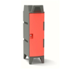Picture of Plastic Clothes Locker - Solid Door - Stackable with Feet - 47.5 x 30 x 112 cm - PA286A