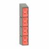 Picture of Plastic Locker - Solid Door - Slant Top - 4 Tier - 45.5 x 31 x 193cm - PA433A