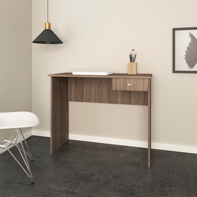 Picture of Office Desk - One Drawer - 73 x 40 x 90 cm - Oak - ME4138.0005