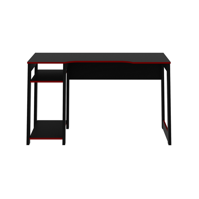 Picture of Gaming Desk - 75 x 60 x 136 cm - Black and Red - ME4152.0001