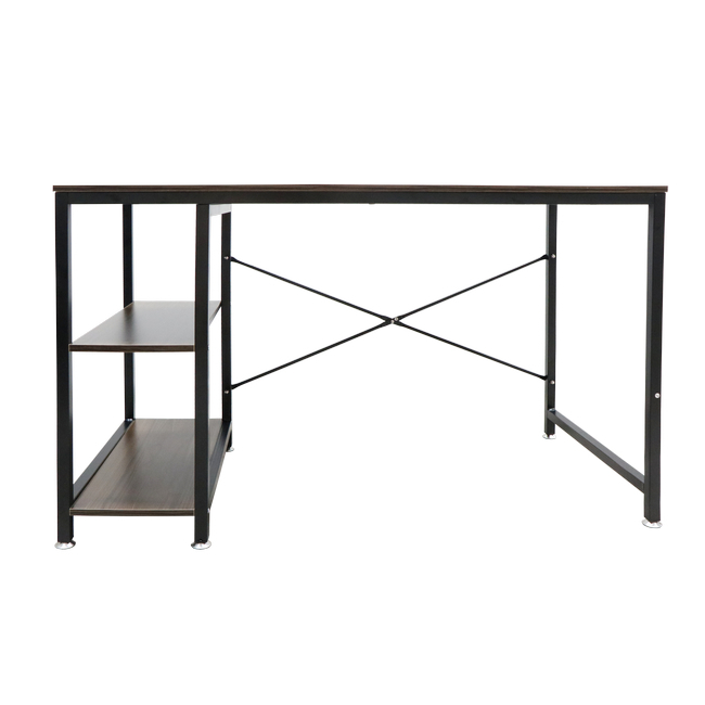 Picture of Office Desk - Utah - 75 x 75 x 120 cm - Walnut and Black - DX-432H2B