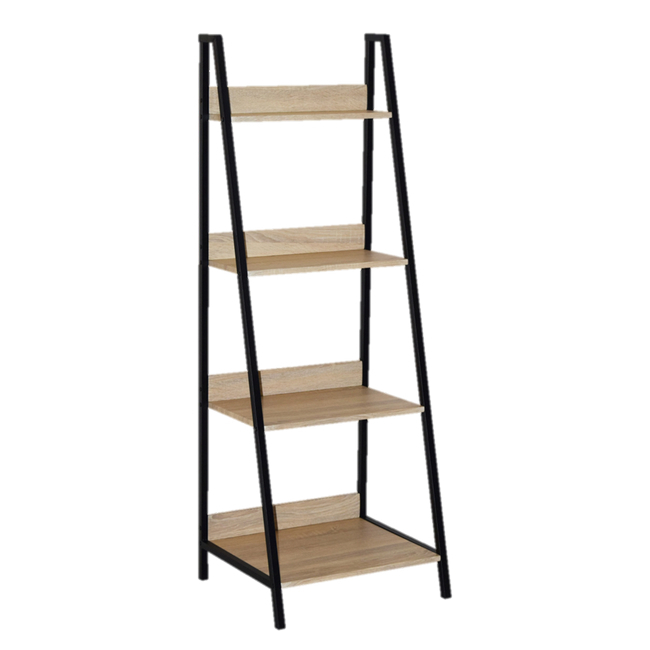 Picture of Bookcase - Kentucky - 146.5 x 46 x 52 cm - Oak and White - SJ-19129B