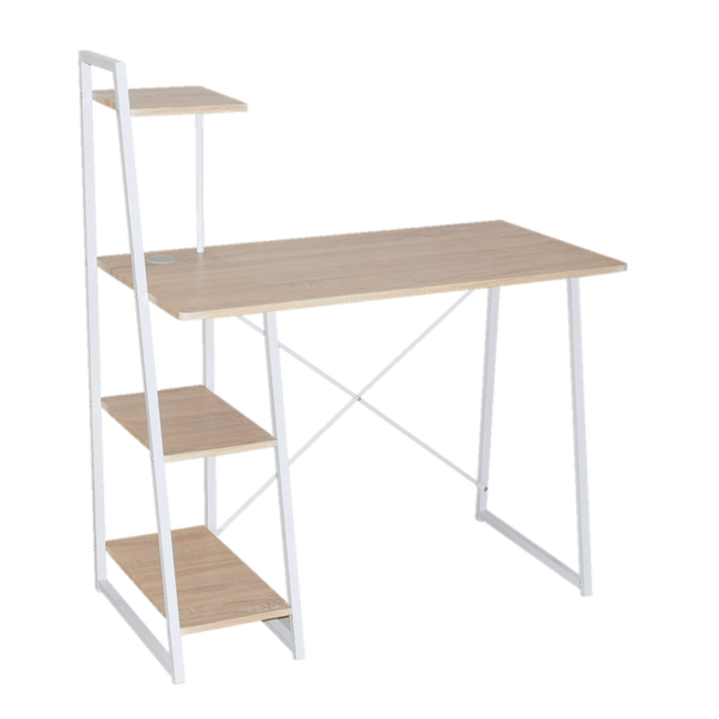 Material: particle board with polyvinyl chloride (pvc) lamination, desk, office desk, wood desk, com.