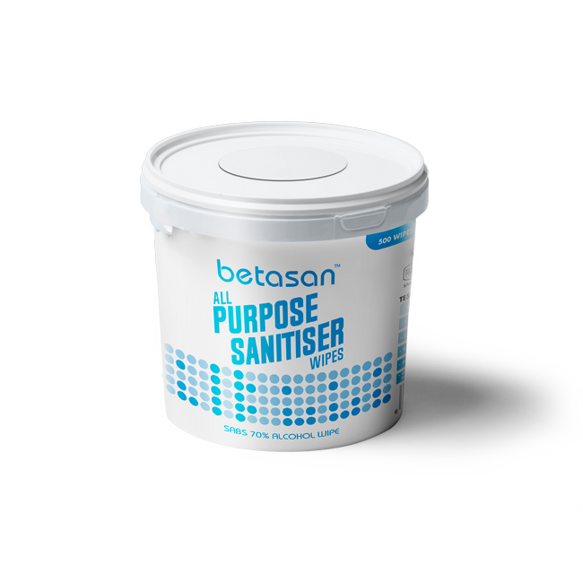 Picture of Wet Wipes - Betasan - 70% Alcohol - 1 x Bucket - 500 Sheets - WR_28
