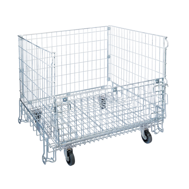 Picture of Steel Cage - Wire - Standard - Mobile - No Lid - 65mm Mesh - 100 x 120 x 100 cm - MHCS10000NLID65