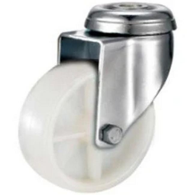 Picture of Castor Wheels - Polypropylene - Bolt Hole - Swivel - White - 50mm - TOOC401