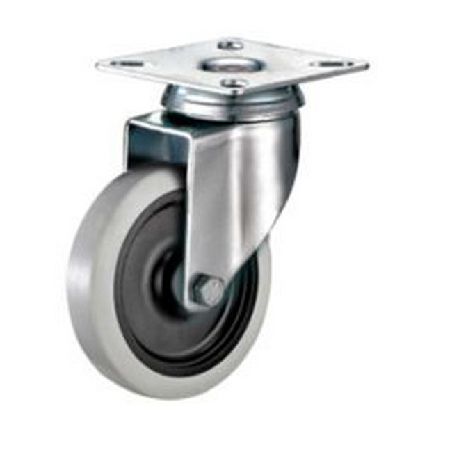 Picture of Castor Wheels - Thermoplastic Rubber - Top Swivel - Fixed Plate - 100mm - TOOC506
