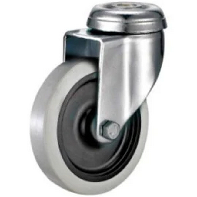 Picture of Castor Wheels - Thermoplastic Rubber - Bolt Hole - Swivel - 125mm - TOOC512