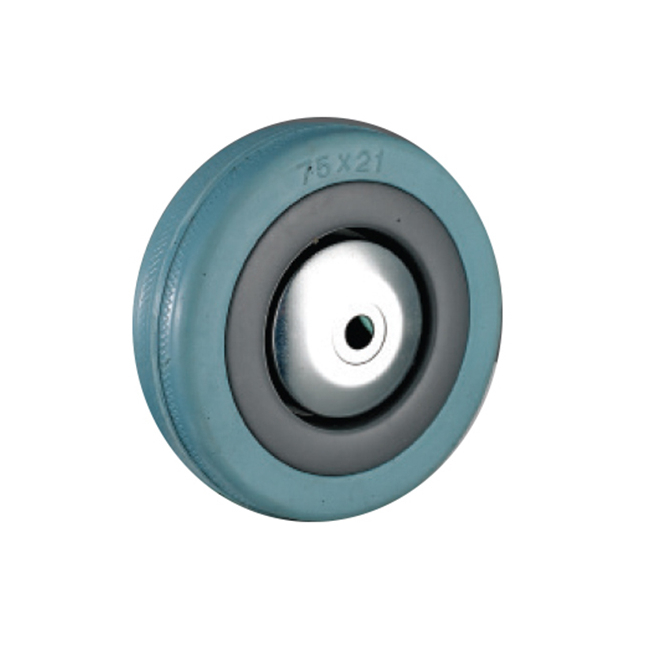 Picture of Castor Wheels - Blue Rubber - Loose Wheel - 75mm - TOOC440
