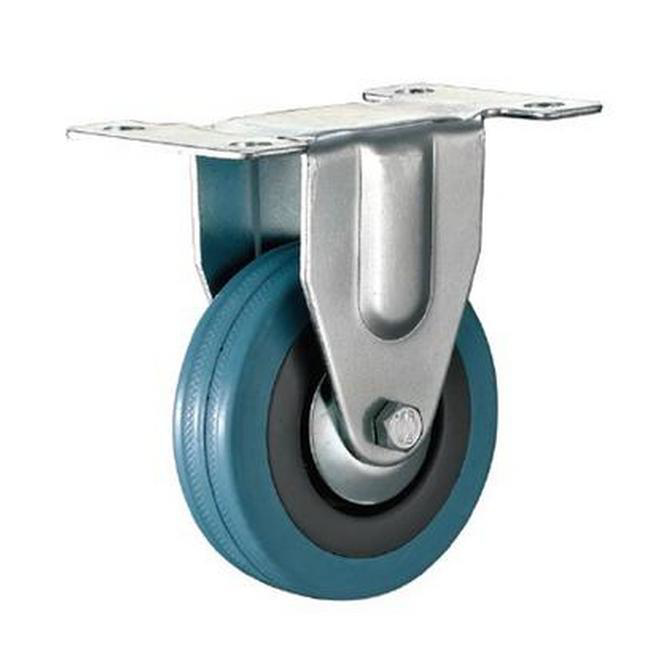 Picture of Castor Wheels - Blue Rubber - Fixed Wheel - 100mm - TOOC445