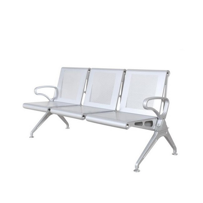 Picture of Airport Bench - Indoor Waiting Room Seat - Mild Steel - Heavy Duty - Three Seater - Flat Pack - 185 x 67 x 82 cm - PD03