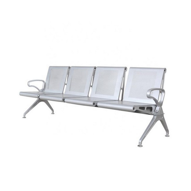 Picture of Airport Bench - Indoor Waiting Room Seat - Mild Steel - Heavy Duty - Four Seater - Flat Pack - 244 x 67 x 82 cm - PD04