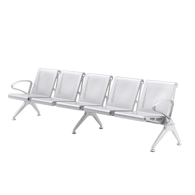 Picture of Airport Bench - Indoor Waiting Room Seat - Mild Steel - Heavy Duty - Five Seater - Flat Pack - 302 x 67 x 82 cm - PD05