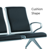 Picture of Airport Bench - Indoor Waiting Room Seat - Mild Steel - Upholstered - Heavy Duty - Four Seater - Flat Pack - 244 x 67 x 82 cm - PD04A-black
