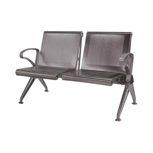 Picture of Airport Bench - Indoor Waiting Room Seat - Aluminium - Two Seater - Flat Pack - 127 x 67 x 82 cm - PF02