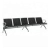 Picture of Airport Bench - Indoor Waiting Room Seat - Aluminium - Upholstered - Five Seater - Flat Pack - 302 x 67 x 82 cm - PF05A-black