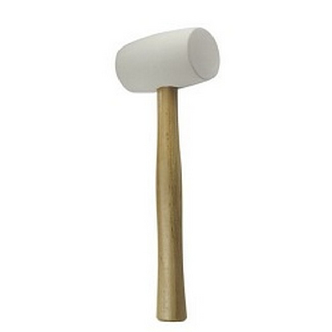 Picture of Mallet - Rubber - White - Wooden Handle - 450GR - FHT-0232