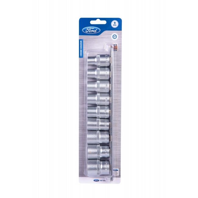 "Picture of Socket Set - 1/2"" Drive - 10 mm to 22 mm - Chrome Vanadium - 9 Piece - FMT-046"