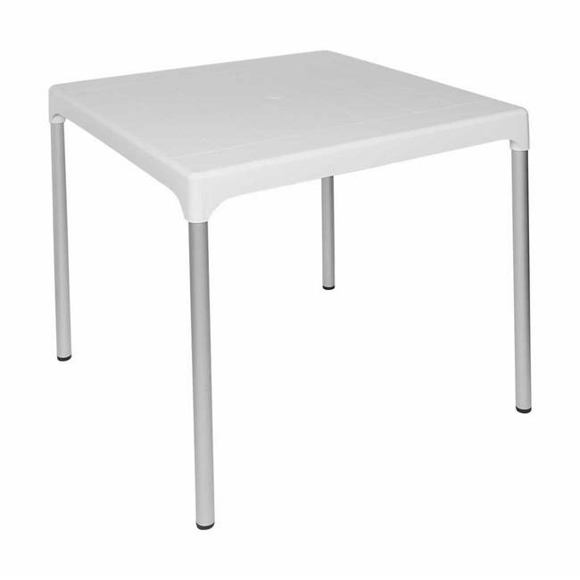 Material: polypropylene, source: virgin, plastic table, outdoor table, picnic table.