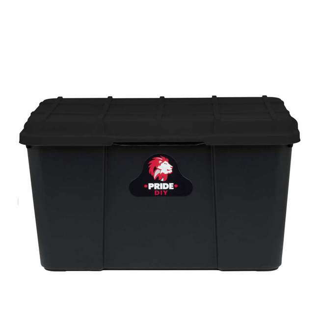 Material: polypropylene, source: recycled, storage box, plastic storage box, plastic container.