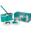 Material: polypropylene, colour: turquoise, mop and bucket, spinning mop, double bucket mop.