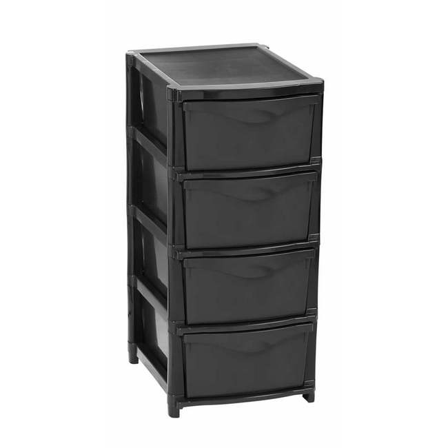 Material: polypropylene, source: recycled, plastic drawer, plastic storage drawers.