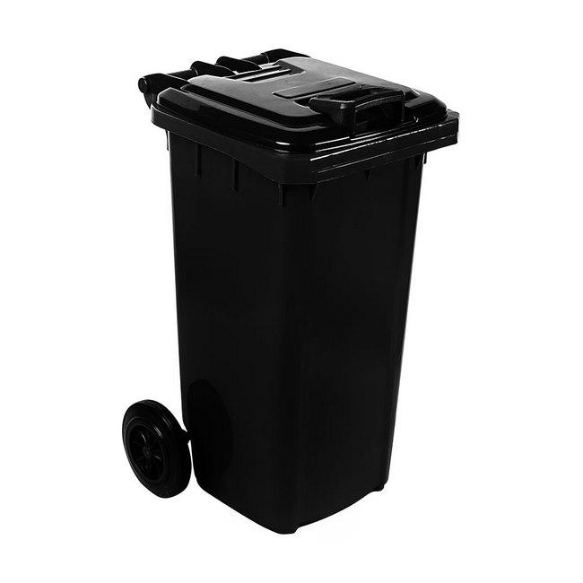 Material: polypropylene, source: recycled, wheelie bin, plastic bin, refuse bin, council bins.