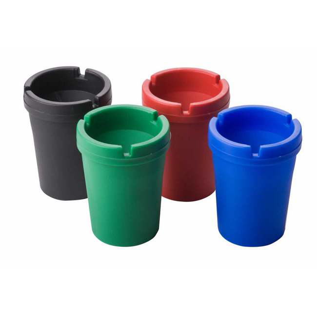 Material: polypropylene, colours: mix of black, ashtray, cigarette can.