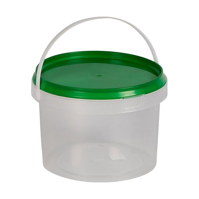 Material: polypropylene, source: virgin, bucket, plastic bucket, bucket with lid.
