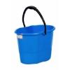 Picture of Plastic Bucket - Handle - No Lid - 15L - Pack of 5 - BK-V15L-HW-B