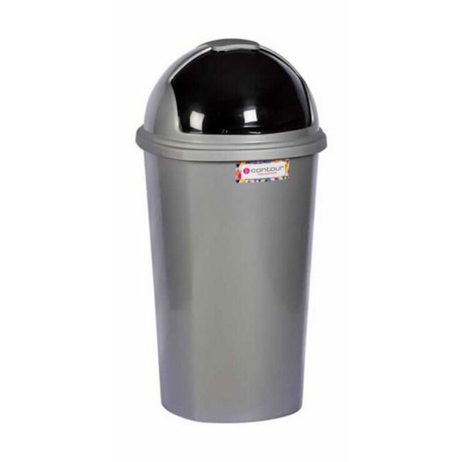 Picture of Dust Bin - Plastic - Contour - Round Swing Lid - 50L - Colour Options - Pack of 5 - LF-R050