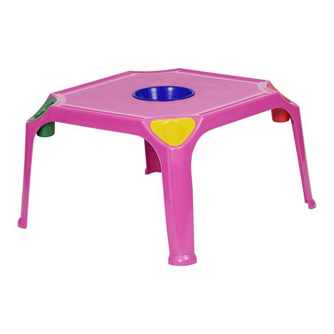 Picture of Plastic Table with Bowl - Kids - 74 x 74 x 47 cm - Colour Options - TL-SCH2